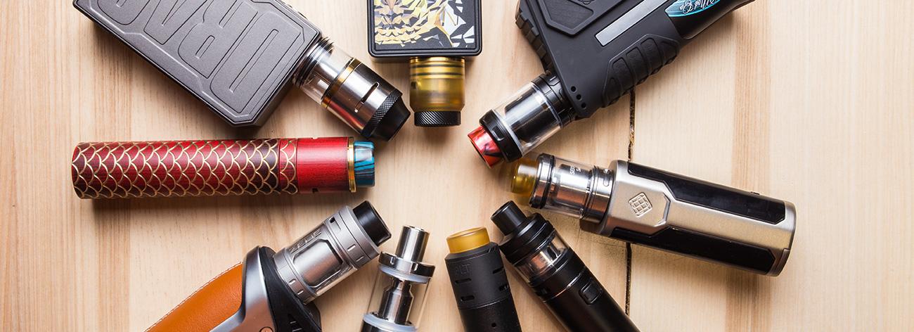 Les éléments d'une e-cigarette