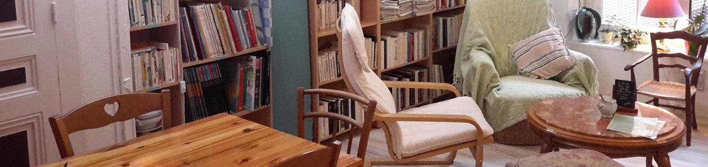 Un salon de thé littéraire et café-bibliothèque