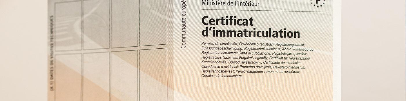 Quels sont les documents à fournir pour un véhicule d'occasion (carte grise française) ?