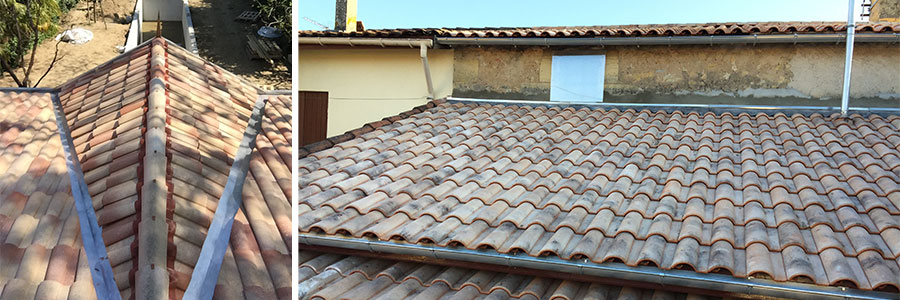 Le nettoyage de toiture