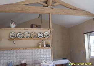 rénovation de maison et mur en pierre