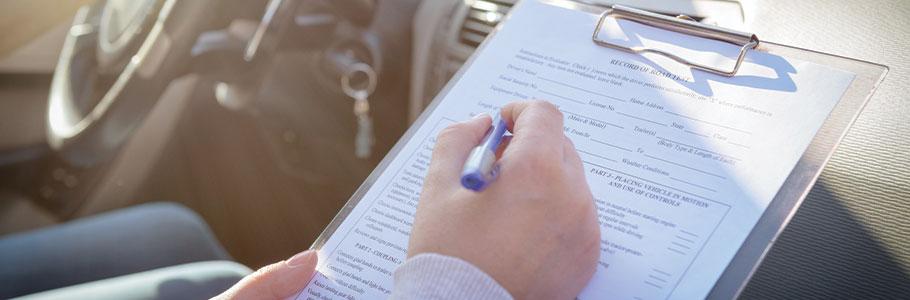 L'examen à la conduite pour le permis B