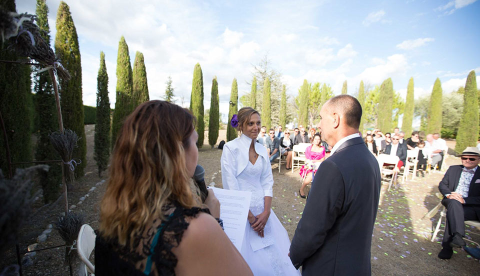 Les formules de cérémonie de mariage