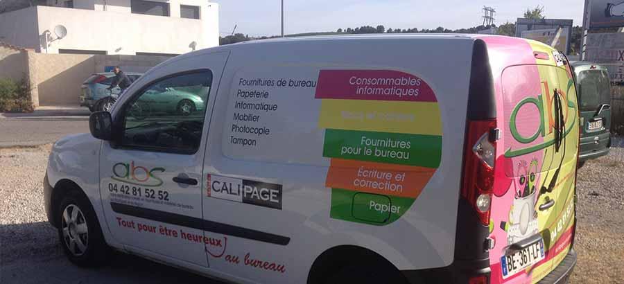 Marquage publicitaire de véhicule à Martigues