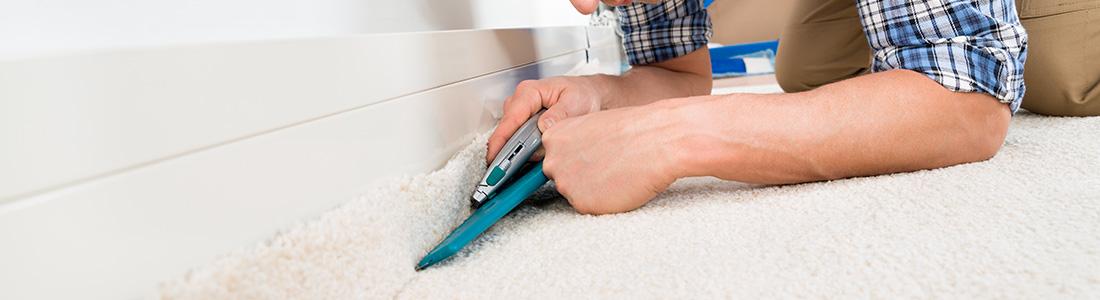 La pose de tapis plain (moquette) et lino au sol