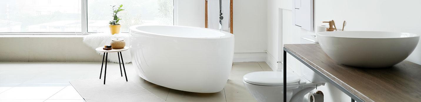 Pose des meubles de salle de bains