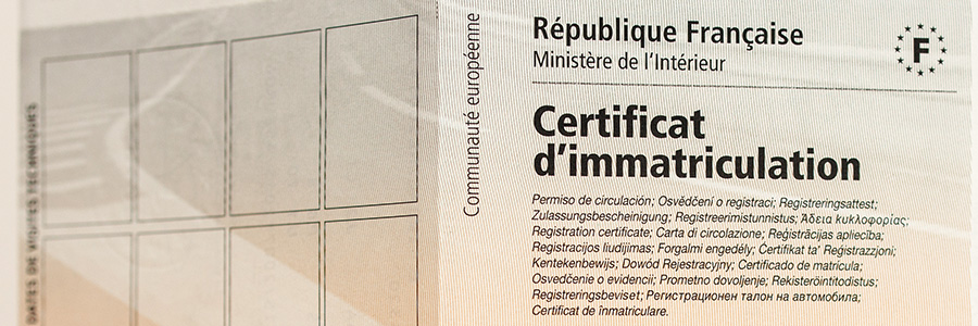 Carte grise, plaques d'immatriculation et clés à Mantes-la-Jolie