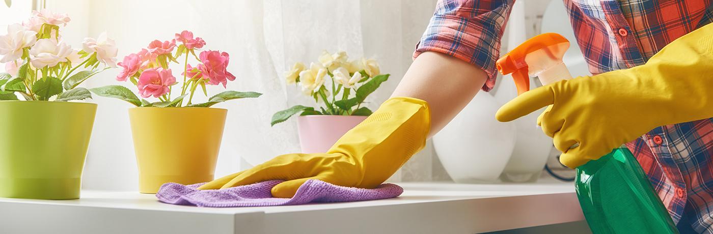 Une femme de ménage professionnelle