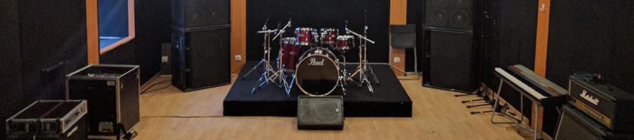 studios d'enregistrement à l'acoustique