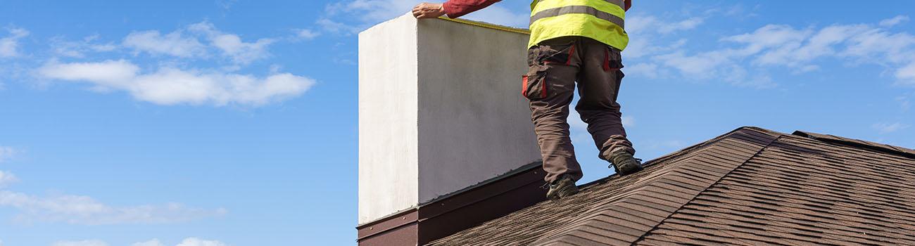 La réparation de la cheminée
