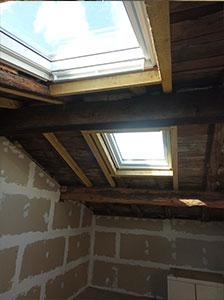 La création de fenêtre de toit