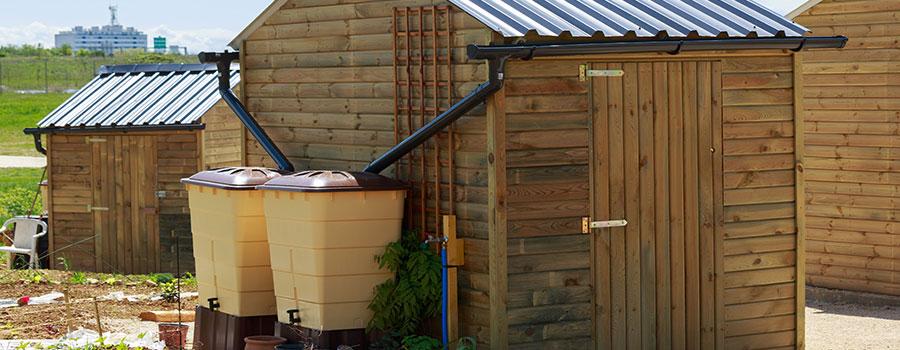 Installation de récupérateur d'eau à Schirrhein (Bas-Rhin)