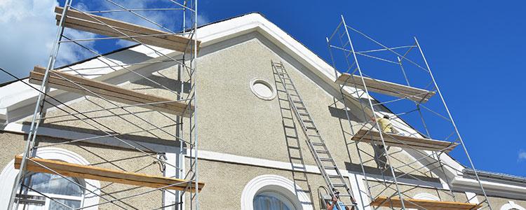 Le chantier de ravalement de façade