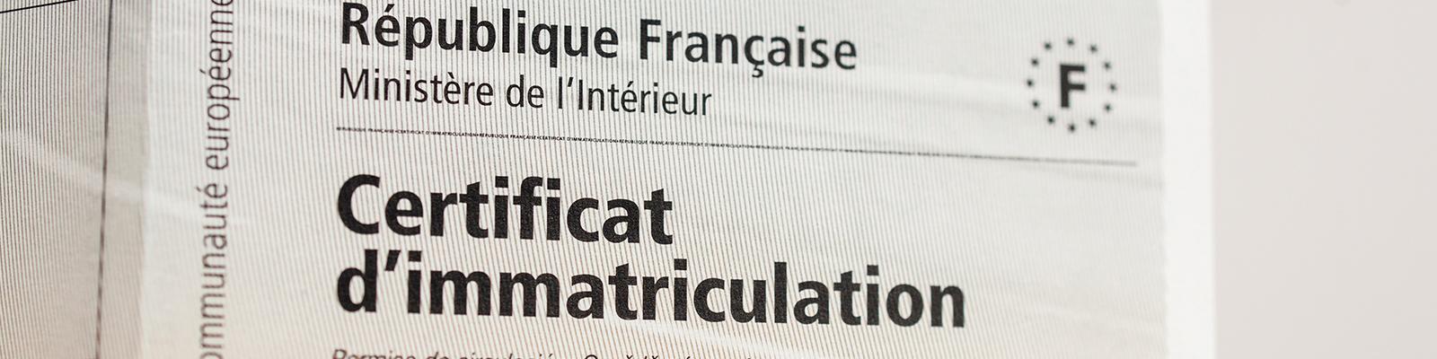 Carte grise, La règlementation en carte grise française