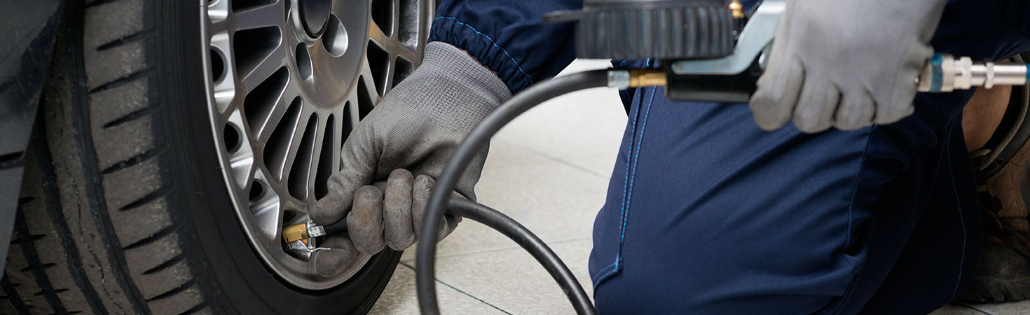 La réparation du pneu crevé