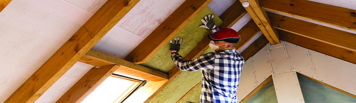 Travaux d'isolation du toit