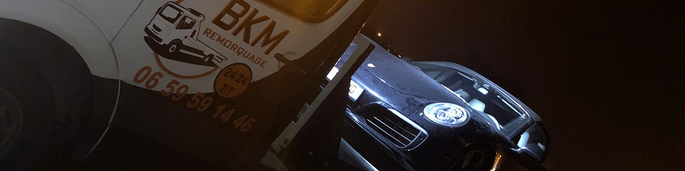 Remorquage automobile en Métropole lilloise - BKM Remorquage