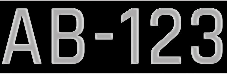 Démarche en plaque d'immatriculation à Hoenheim - Kar and Car