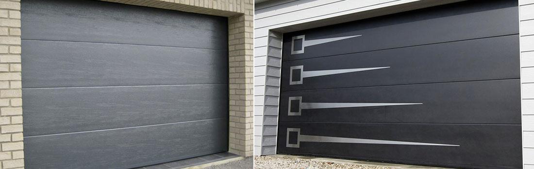 Porte de garage en acier galvanisé