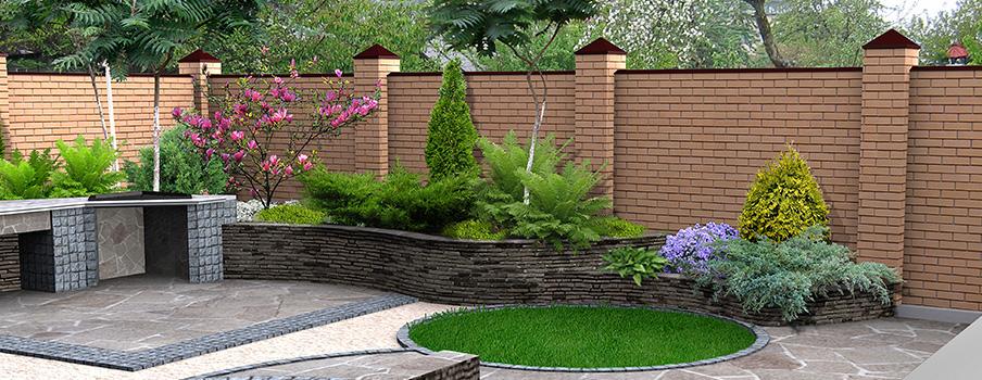 La construction de mur de clôture