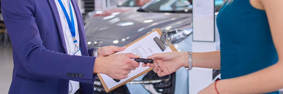 La vente de voitures