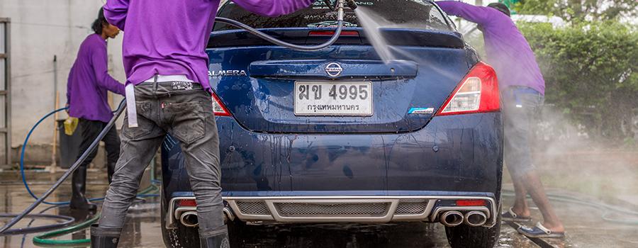 Le tarif du lavage auto extérieur