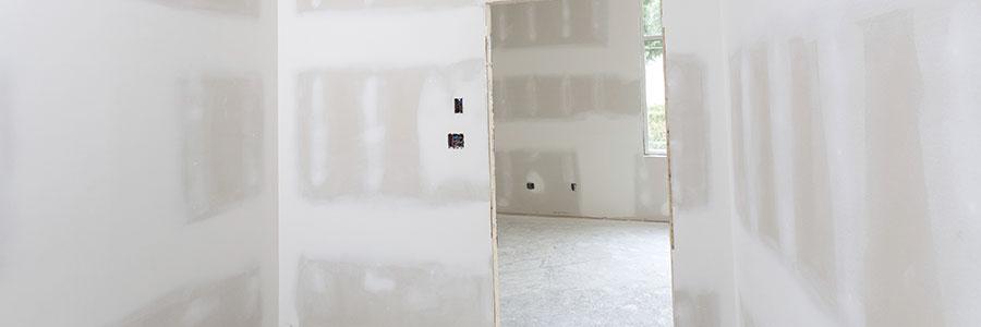 Les travaux d'aménagement des murs