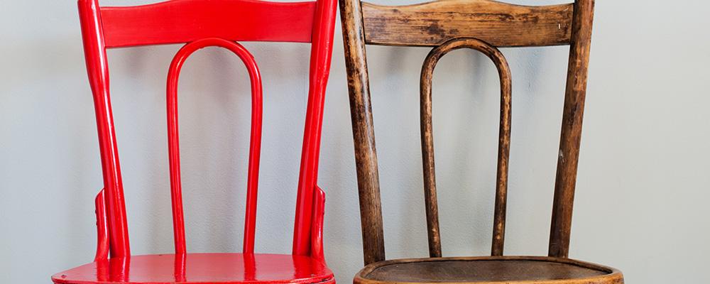 Les meubles restaurés