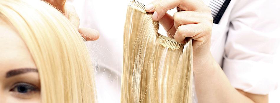 La vente d'extensions et de tissage de cheveux