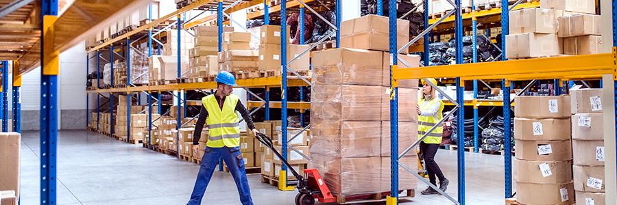 L'entrepôt de stockage des biens