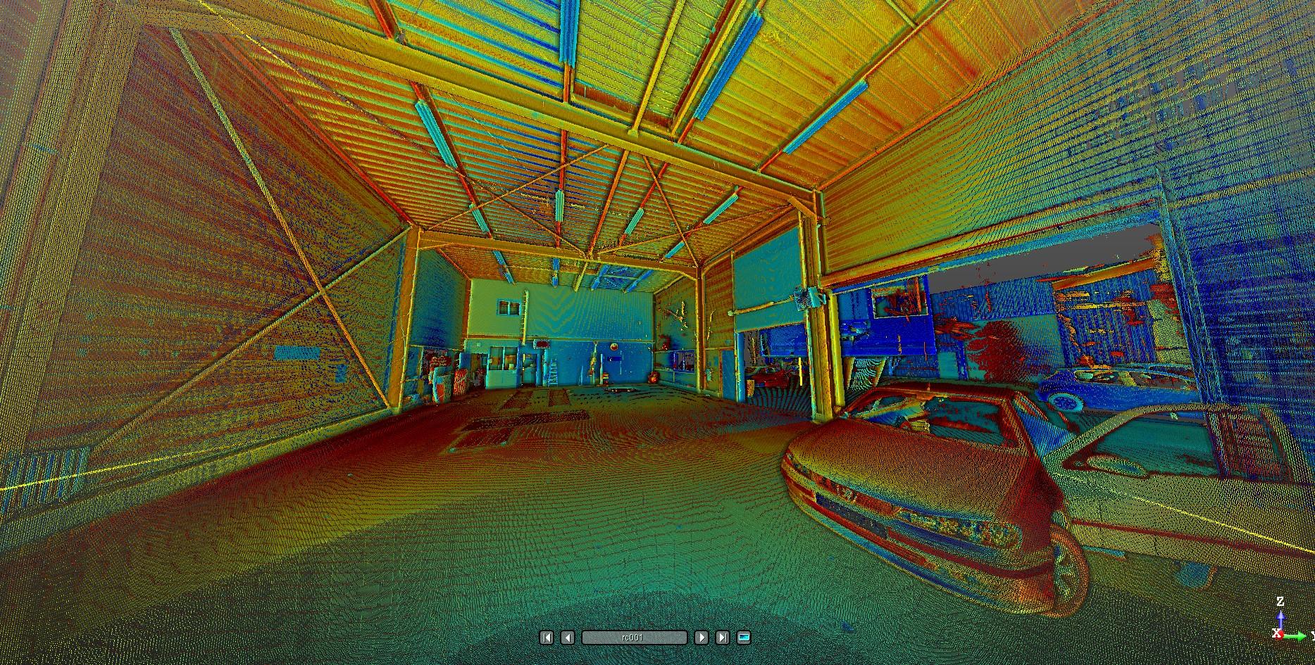 Plan d'intérieur structure scan 3D