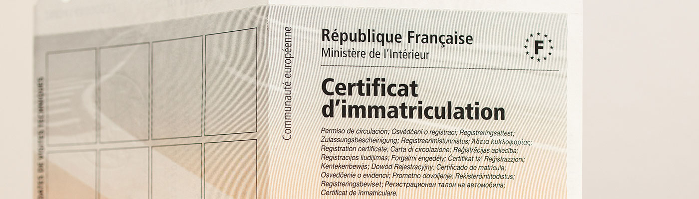 Le certificat de cession de véhicule