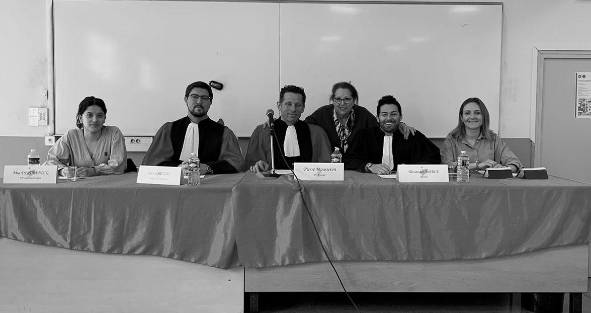 Jury du concours de plaidoiries de la Faculté de Droit de Montpellier