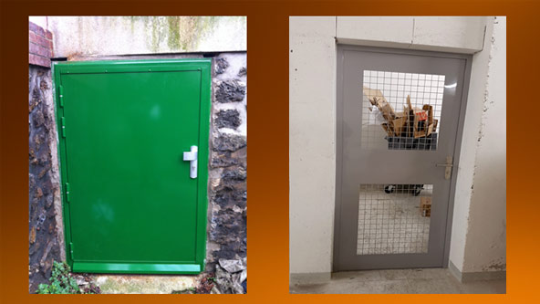 Porte de cave blindée acier
