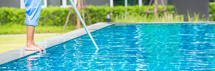 L'entretien de piscines