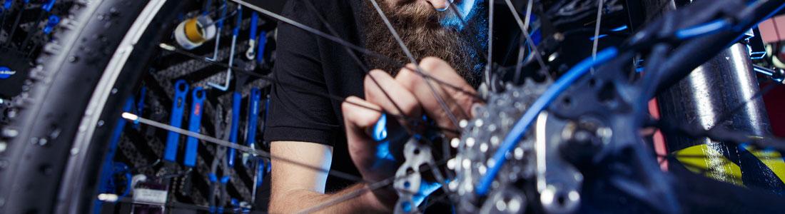 La réparation de vélo